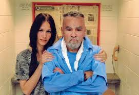 "Charles Manson with fiancee Afton ""Star"" Burton."